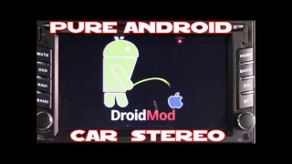 Pure Android car stereo custom boot Animation and Logo