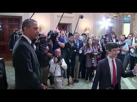 Barack Obama - President Obama Tours the 2014 White House Science Fair