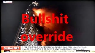 Dubai hotel fire. Mini 911 Happy NWO 2016