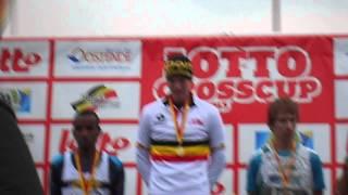 Podiumceremonie Belgisch Kampioenschap Veldlopen seniors 2013