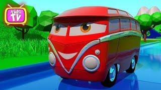 Colors for Children to Learn with bus and toys for Kids, Car bus Videos for children