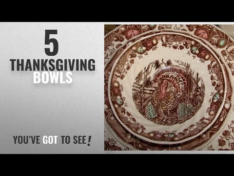 Best Thanksgiving Bowls [2018]: Cereal Bowls Set Of 4 Johnson Brothers His Majesty Thanksgiving