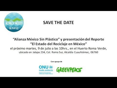 """ONU Medio Ambiente: Lanzamiento Oficial """"Alianza México Sin Plástico"""" (VIDEO)"""