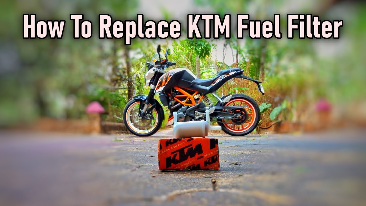 How To Replace Fuel Filter - KTM Maintenance - Changing Fuel Filter - Krrish
