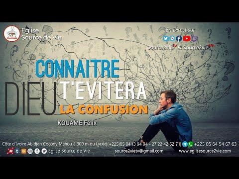 KOUAME Félix | Connaître DIEU t'évitera la confusion