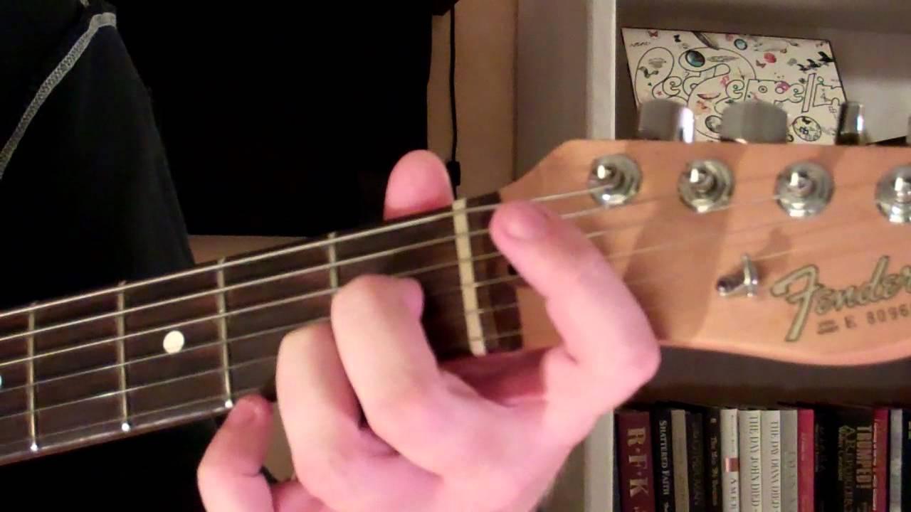 How To Play The Bb13 Chord On Guitar B Flat Thirteenth Youtube