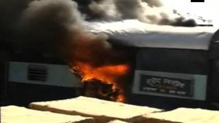 Major fire in luggage van of Shaheed Express guts hosiery goods worth lakhs