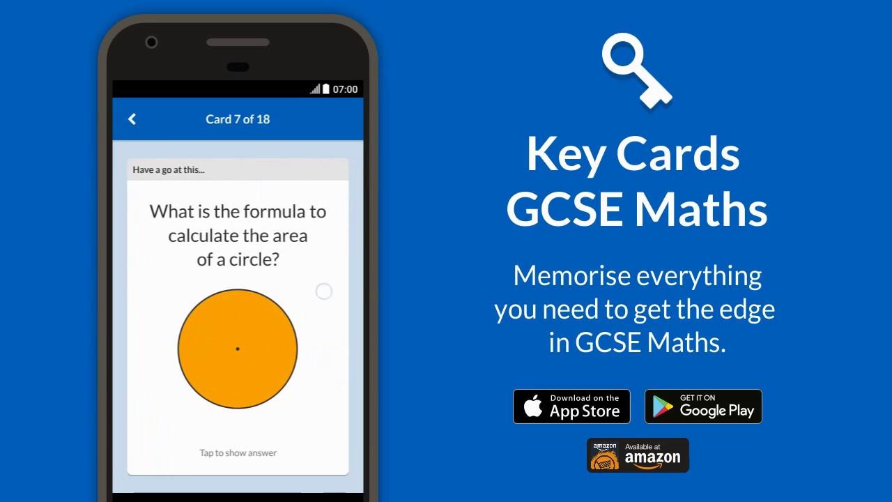 Key Cards 9-1 GCSE Maths Revision App