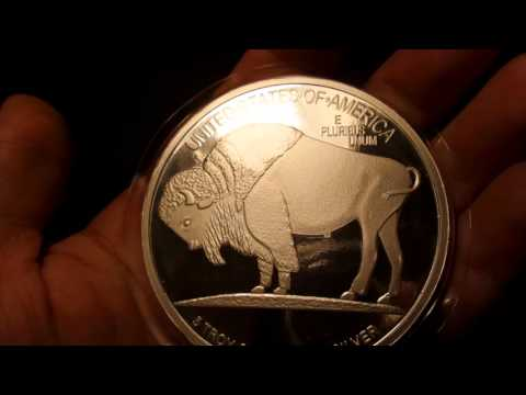 5 oz Silver Buffalo Round And Shout Out