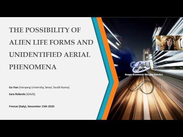 Go Han (by Sara Rolando) - La possibilità di forme di vita aliene e fenomeni aerei non identificati