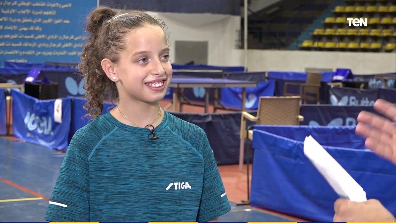لقاء خاص مع الطفلة هنا جودة لاعبة التنس التي تحدت محمد صلاح وقبل تحديها
