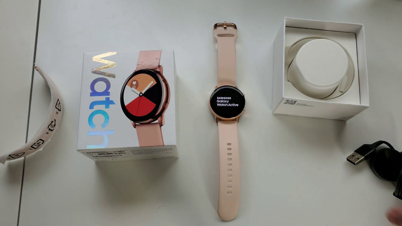 Samsung Galaxy Watch Active Rose Gold Unboxing Hands On Youtube