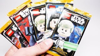 Lego Star Wars Trading Cards Serie 1 | 5x Packs Unboxing Deutsch