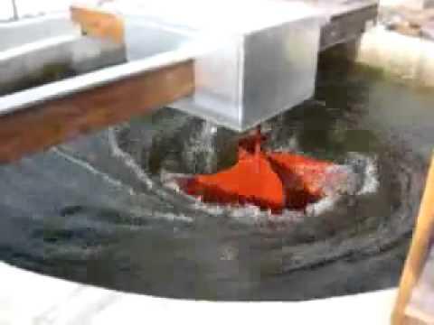 Gravitational Vortex Power Plant Using an Implosion-Impeller Turbine Blade