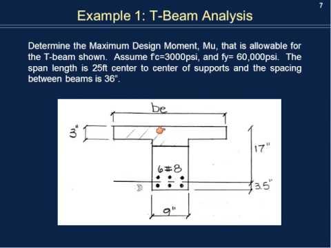 T-Beam Analysis and Design
