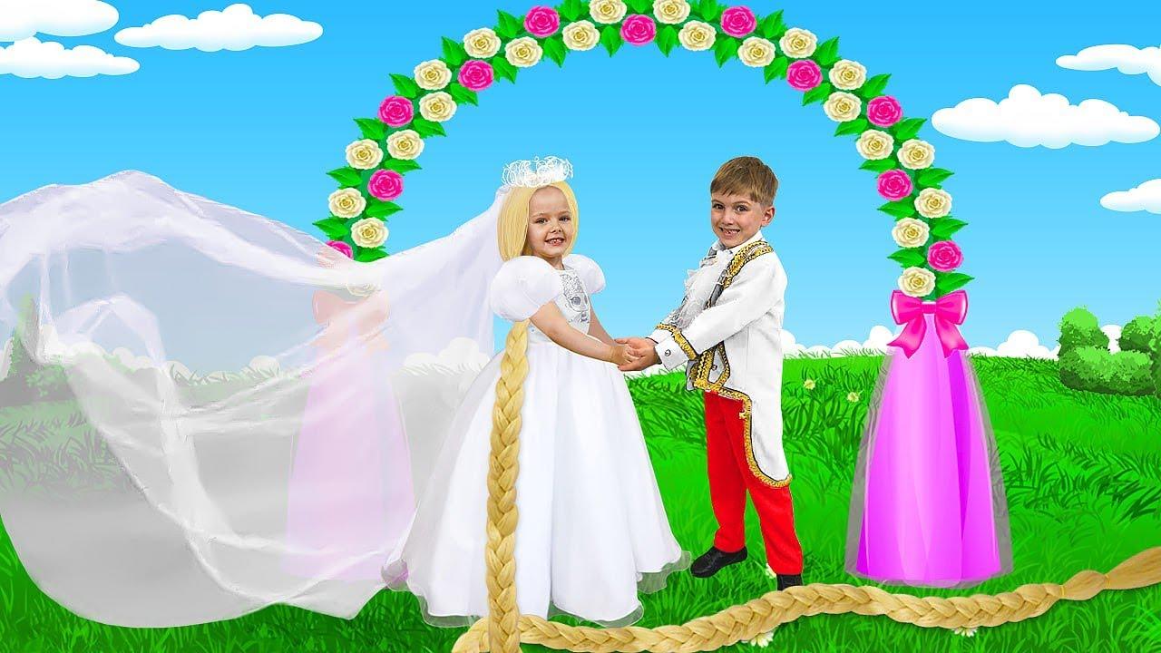 ¡La boda está arruinada! Masha y Katya sueñan con una boda maravillosa y comparten vestido