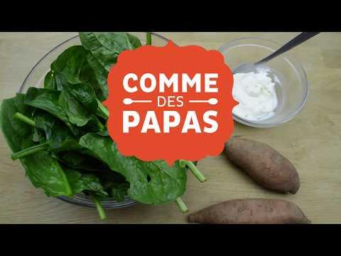 les-recettes-des-papas-#5---petite-purée-d'Épinard,-ricotta-et-patate-douce---dès-8-mois