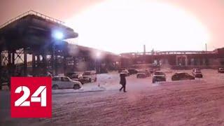 Вспышка до неба: появилось видео начала пожара в уфимской промзоне - Россия 24