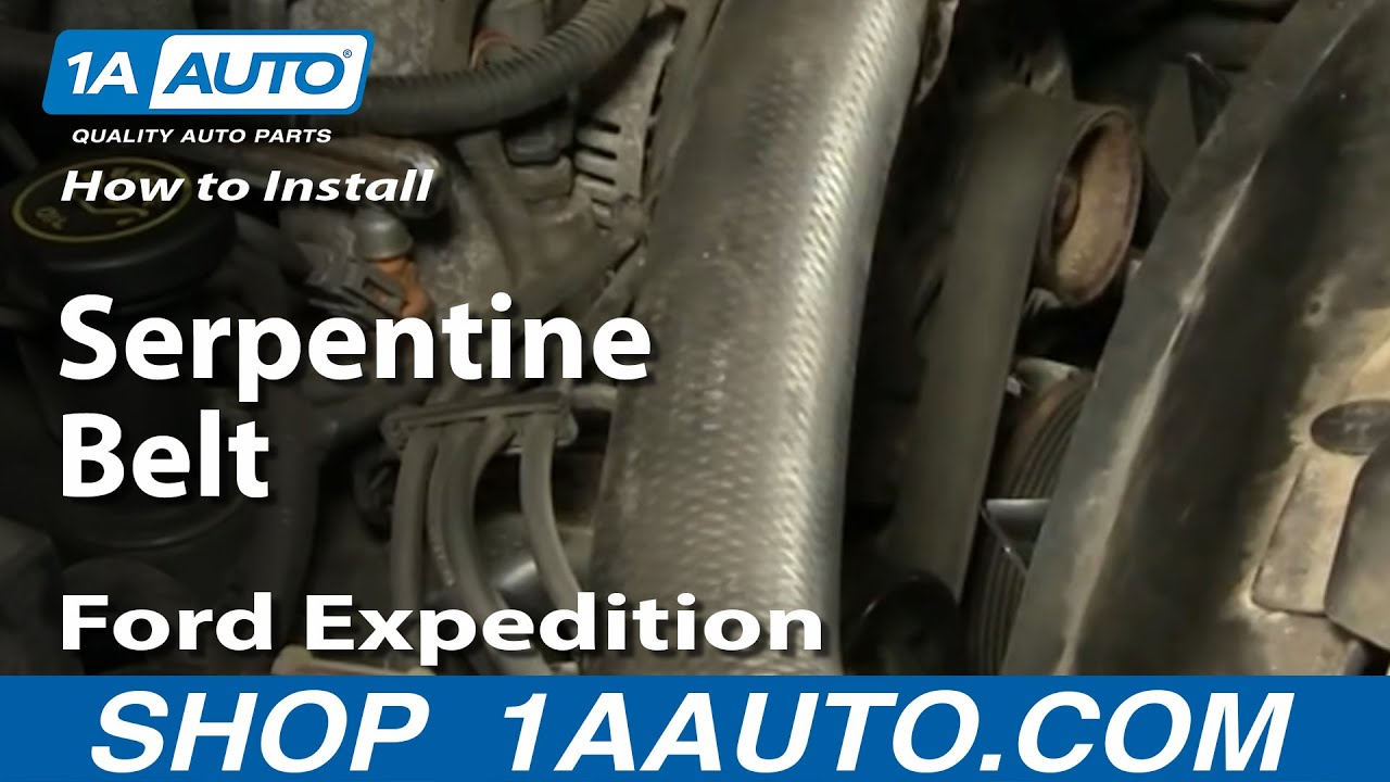 How To Install Replace Serpentine Belt Ford F-150 Expedition 97-03 ...
