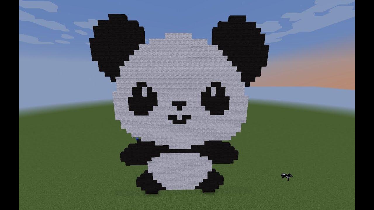 Pixel Art Panda Youtube