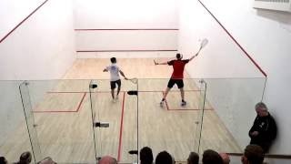 World number 1 Squash Player James Willstrop vs Indian Champion Saurav Ghosal