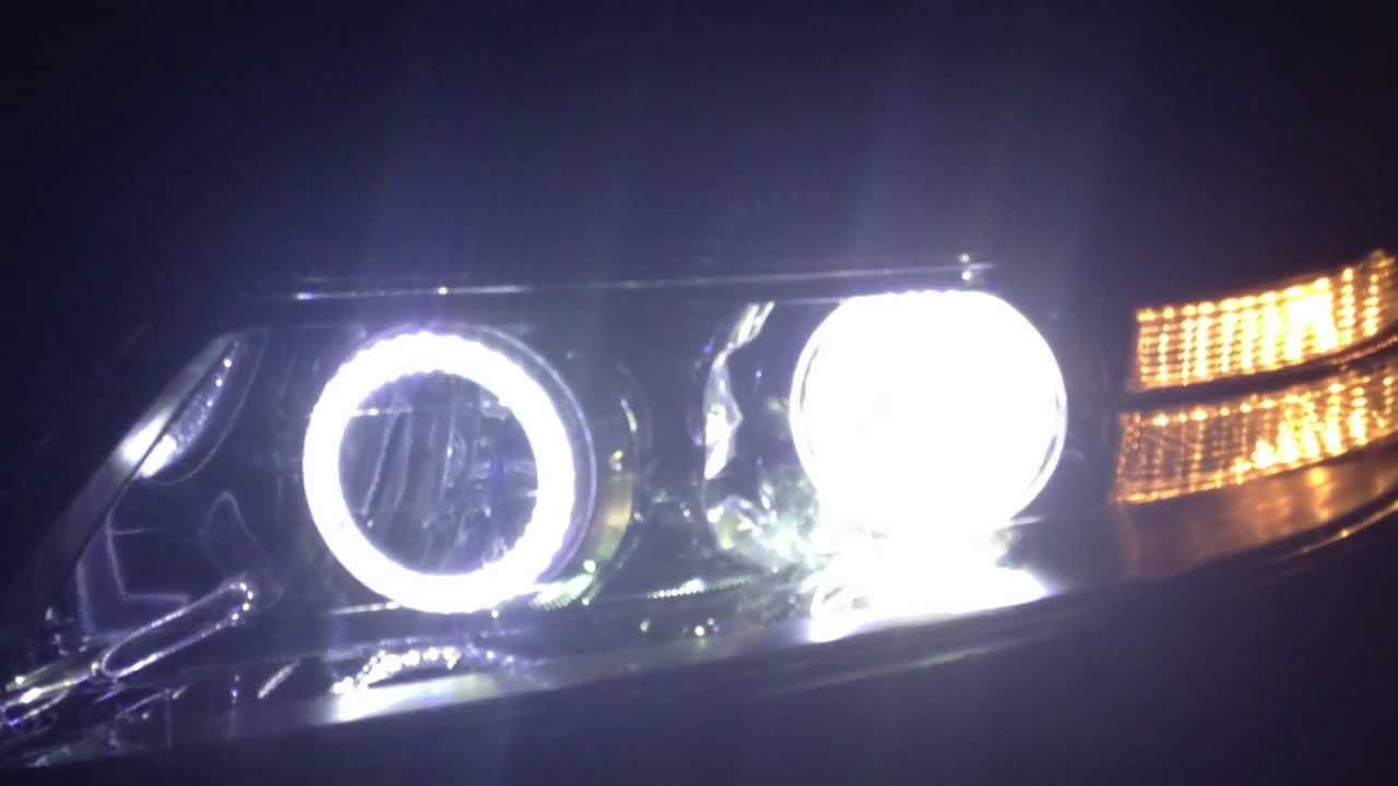 Acura TL Angle Eyes Halo Headlights Plus LED Interior YouTube - 2004 acura tl headlights