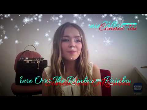 Connie Talbot on China Daily - Somewhere Over The Rainbow-