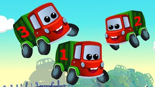 Zeek And Friends   Five Little Garbage Trucks   Car Rhymes And Songs