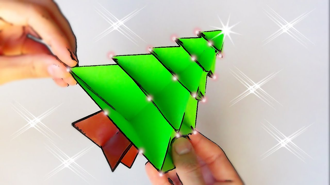C mo hacer un rbol de navidad de papel origami navide o - Como hacer cosas de navidad ...
