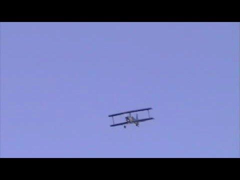 Ultimate Biplane SIG 10-300 R/C first flight