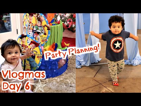 PLANNING CHUBS & TINAS BDAY PARTY! | Vlogmas Day 6