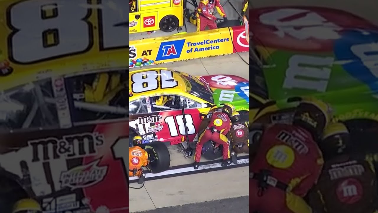 Kyle Busch gets a flat tire with playoff hopes at stake | #shorts | NASCAR
