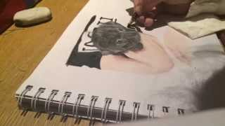 Speed Drawing Of A Black Pug (nala) Using Coloured Pencils