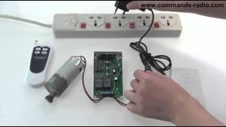 Kit Commande de Moteur Radio pour commander moteur 12V 4 boutons longue portée 500m