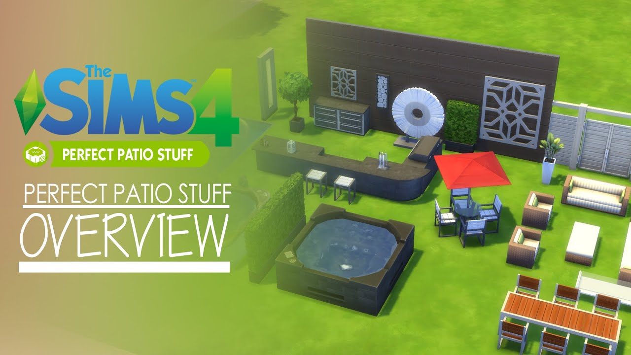The Sims 4   Perfect Patio Stuff Pack   Overview