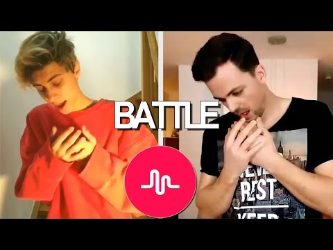 Our battle against Lukas Rieger. Musical.ly Reaction #11
