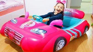 Öykü's New Cars Barbie and McQueen, Inflatable Princess Cars - Funny Oyuncak Avı