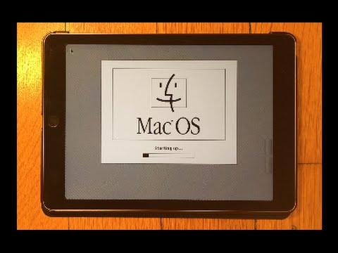 Macintosh Plus on iPad Air 2