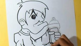 cómo dibujar un Personaje con spray | Wizar art - by Wörld