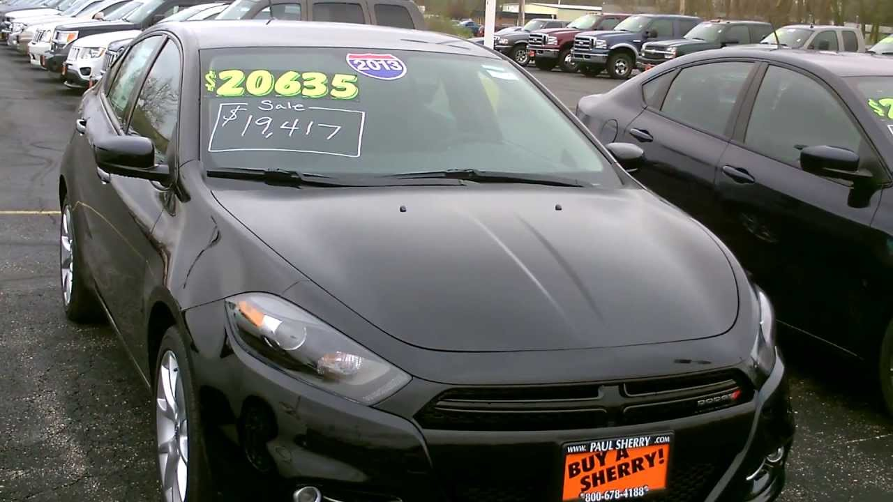 2013 dodge dart sxt sedan black for sale dayton troy. Black Bedroom Furniture Sets. Home Design Ideas