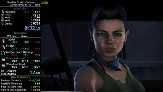 Need For Speed Carbon Any% Speedrun in 1:59:23 RTA 1:56:07 w/o loads