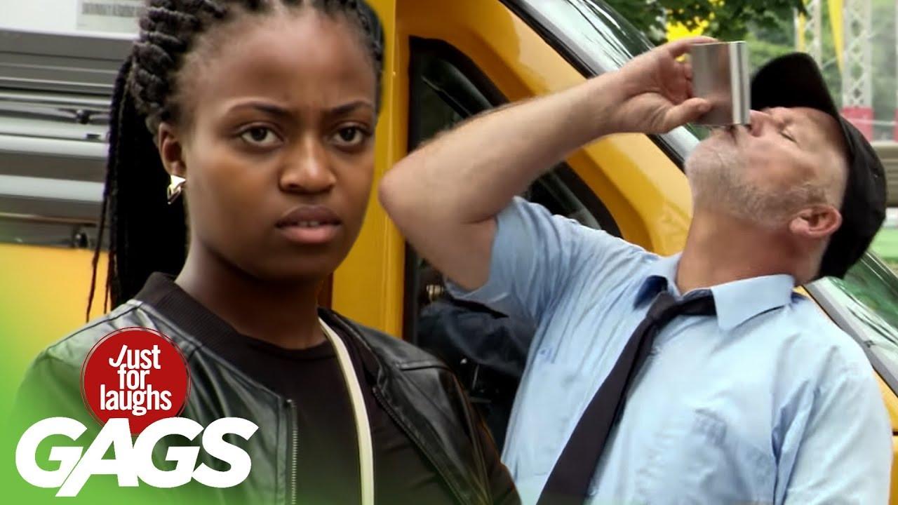 Funny Prank አስቂኝ ሽወዳ: Drunk School Bus Driver