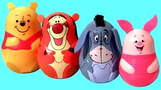 Winnie the Pooh Stacking Cups Surprise Eggs Tigger Eeyore Piglet Huevos Sorpresa Bubble Guppies MLP