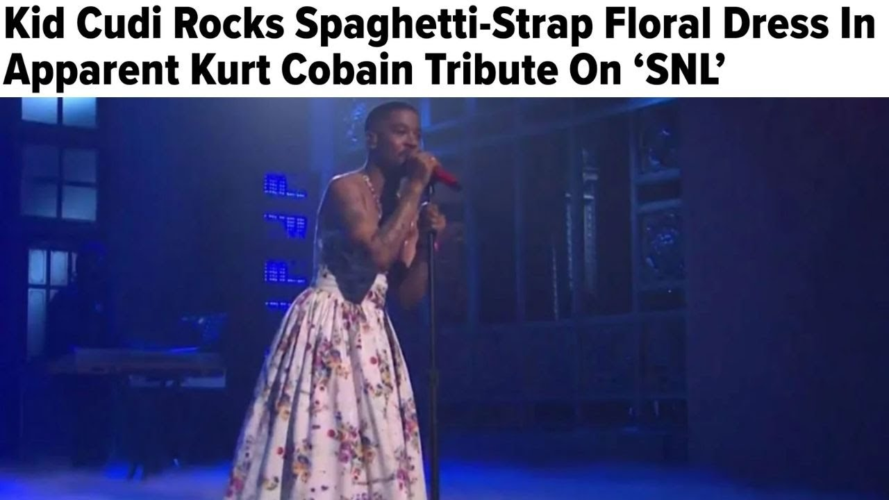 Kid Cudi Rocks Spaghetti-Strap Floral Dress In Apparent Kurt ...