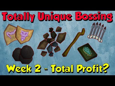 Week 2 - Total Loot! Selling my tab [Runescape 3] Totally Unique Bossing