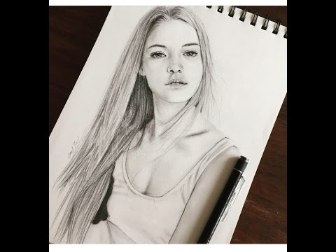 how to draw a pretty girl drawing time lapse youtube