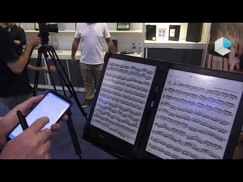 PadMu Pad for Musicians digital sheet music with 2 eInk displays