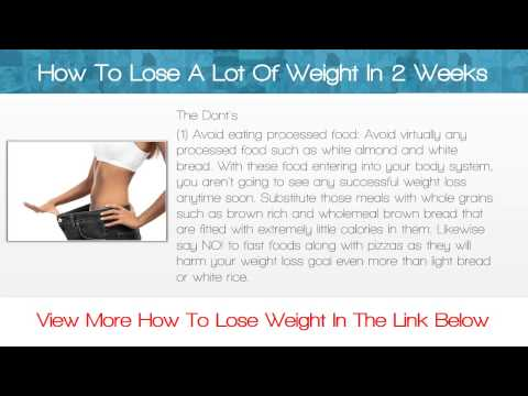 how to lose a lot of weight in 2 weeks  youtube