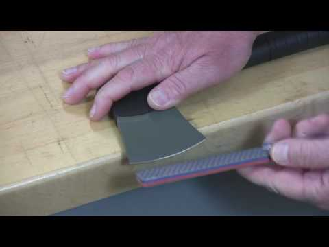 Video of Sharpening a Hatchet w/Double Sided Diafold® Fine/Coarse