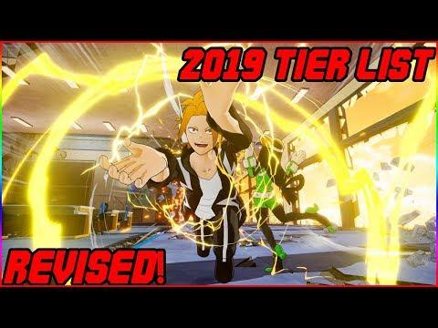 My Hero Academia One\'s Justice (2019) REVISED Tier list!
